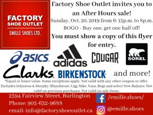 Factory Shoe - After Hours Sale @ Factory Shoe Outlet