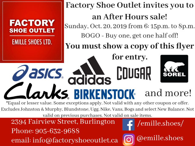 Factory Shoe - After Hours Sale